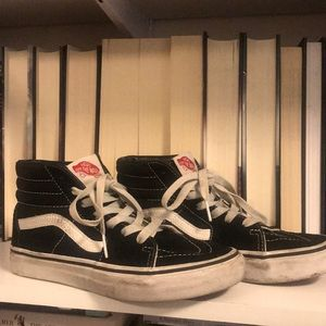 VANS Kids SK8-HI Black/True White Sneakers 3.5